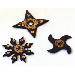 Set steluțe ninja - cauciuc