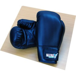 10 oz boxing gloves Vinyl - Black