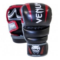 """Venum """"Elite"""" Sparring MMA Gloves - Black/Red/Grey"""