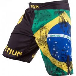"Șort MMA Venum ""Brazilian Flag"" Fightshorts - Black"