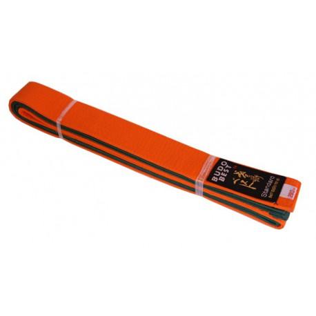 Centura bicoloră portocaliu-verde 50/50