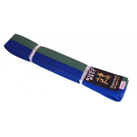 Centura bicoloră taekwondo verde-albastru