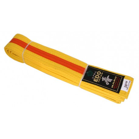 Striped belt - 4 cm