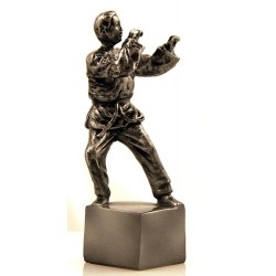 Figurina Karateka argintiu