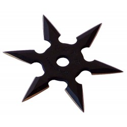Steluță ninja 6 colțuri - carbon