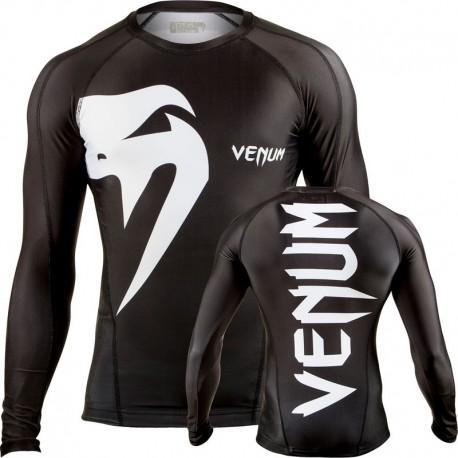 "Venum ""Giant"" Rashguard - Black, Mâneci lungi"