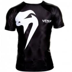 "Venum ""Giant"" Rashguard - Black, Mâneci scurte"