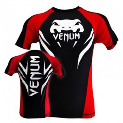 "Venum ""Electron 2.0"" Rashguard - Black, Mâneci scurte"