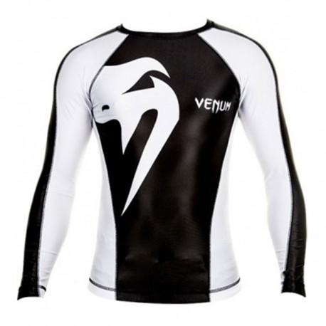 "Venum ""Giant"" Rashguard - Black/Ice, Mâneci lungi"