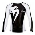"Venum ""Giant"" Rashguard - Black/Ice - Long sleeves"