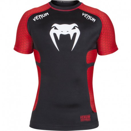 """Venum """"Absolute"""" Compression T-shirt Black/Red - Short Sleeves"""