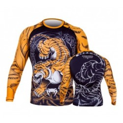 Venum Tiger Rash Guard Long Sleeves Negru/Portocaliu