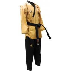 Dobok Poomse DAN Superior (bluza galbena, pantalon negru)