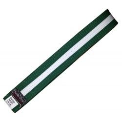 Centura BJJ Verde/Alb - 4 cm