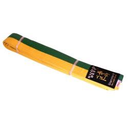 Centura bicoloră taekwondo galben-verde