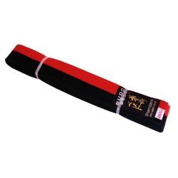 Centura bicoloră taekwondo roșu-negru