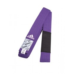 Centură Adidas pentru Jiu Jitsu Brazilian - violet/negru