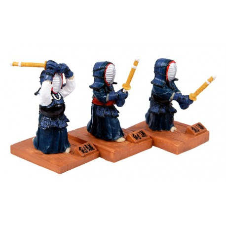 Set 3 figurines kendo (individual)
