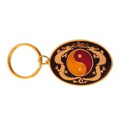 Oval Keyring Ying Yang
