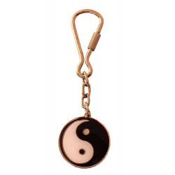 Rounded Keyring Ying Yang