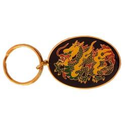 Oval Keyring Dragon